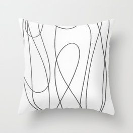 Line Nude 2 Throw Pillow