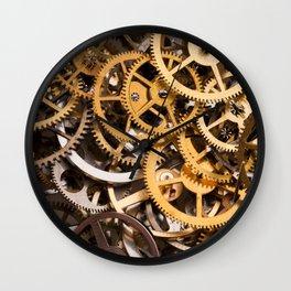 Cogwheels background Wall Clock
