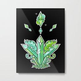 Viridian Diamond Metal Print