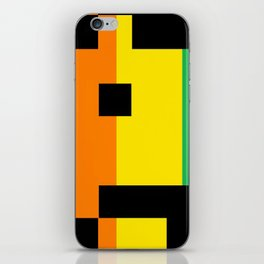 Rainbow Space Invader iPhone Skin