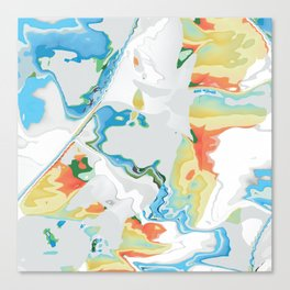 Eazy peazy painterly squeezy Canvas Print