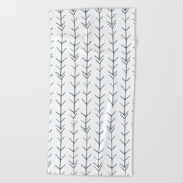 Twigs and branches freeform gray Beach Towel