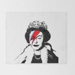 Banksy space queen Throw Blanket