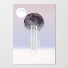 Dream Of The Glitter Moon Canvas Print