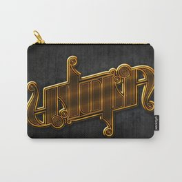 Golden Utopia Ambigram Carry-All Pouch
