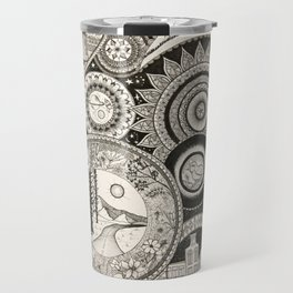 Ink Pen Collage Travel Mug
