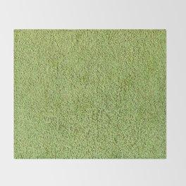 Phlegm Green Shag Pile Carpet Throw Blanket