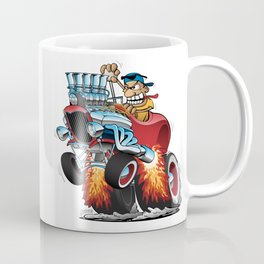 Highboy Hot Rod Race Car Cartoon Coffee Mug
