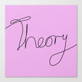 String Theory - Playful, pun, humorous, physics joke, black and pink Canvas Print