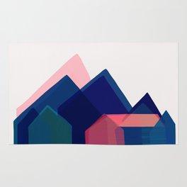 Houses abstract Rug