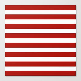 Red & White Maritime Stripes- Mix & Match with Simplicity of Life Canvas Print
