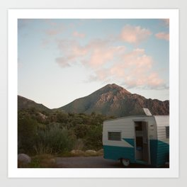 Awoken on the side of a mountain  Art Print