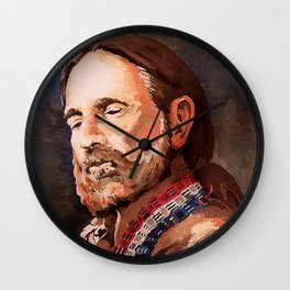Willie Nelson Acrylic Painting Wall Clock