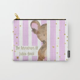 The Adventures Of Lufkin Mouse - Pink - Bagaceous Carry-All Pouch