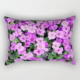 Blue pillow garden plant purple Rectangular Pillow