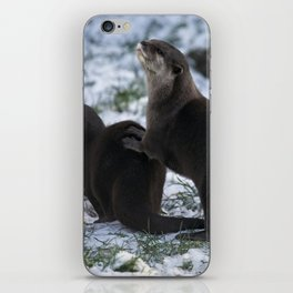 Otters In The Snow iPhone Skin