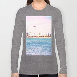 Windsurfing at St Kilda Long Sleeve T-shirt