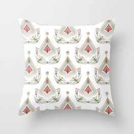 Geometric pattern . Colorful art Deco . No. 60, Throw Pillow
