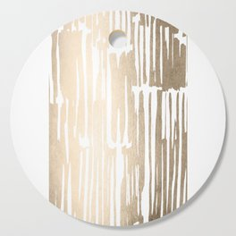 White Gold Sands Bamboo Stripes Cutting Board