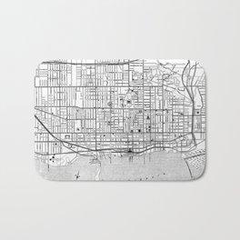 Vintage Map of Toronto (1906) BW Bath Mat