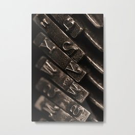 typewriter keys Metal Print