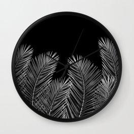 Dark Palm Skies Wall Clock