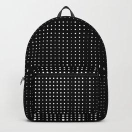 Rhythm of white dots on black background Backpack
