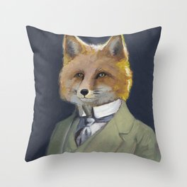 FOX FRIEND, by Frank-Joseph Throw Pillow