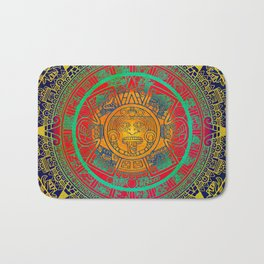 Aztec Sun God Bath Mat