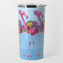 A Small Flock of Flamingos Travel Mug