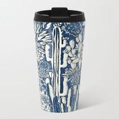 Indigo cacti Metal Travel Mug