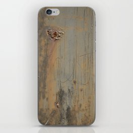 Disgusting Grungy Rusty Wounded Painted Metal iPhone Skin