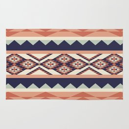 Native American Geometric Pattern Rug