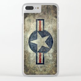 USAF vintage retro style roundel Clear iPhone Case