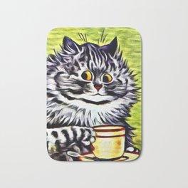 """Louis Wain's Cats """"Kitty On Coffee Break"""" Bath Mat"""