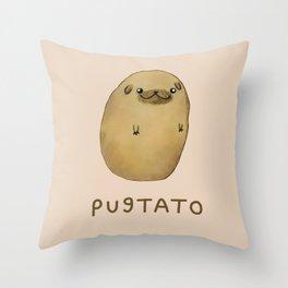 Pugtato Throw Pillow