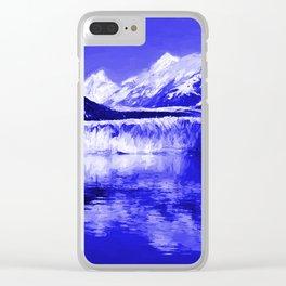 Glacier Bay Blue Clear iPhone Case