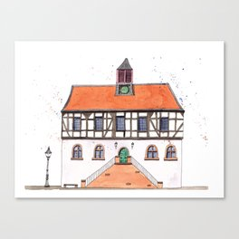 Timber-Framed House from Germany Canvas Print