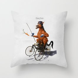Horse Power Throw Pillow