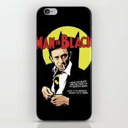 Man in Black iPhone Skin
