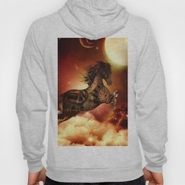 Steampunk, awesome steampunk horse Hoody