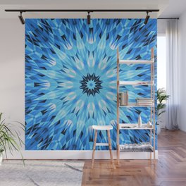 Blue Ice Crystals Wall Mural