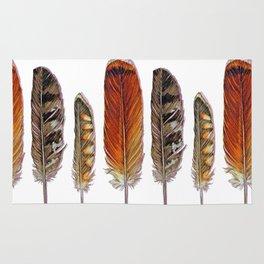 Raptor Feathers Rug
