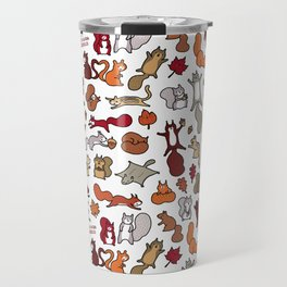 Squirrels in Fall Doodle Travel Mug