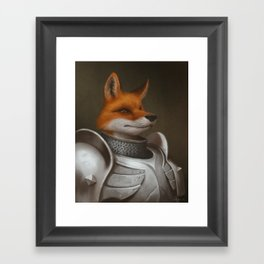 The Knight Fox Framed Art Print