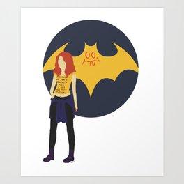 Batgirl Minimal Art Print