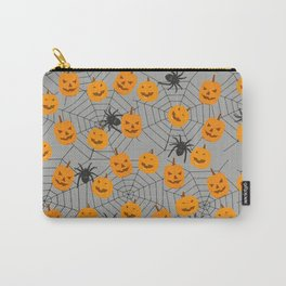 Hallween pumpkins spider pattern Carry-All Pouch