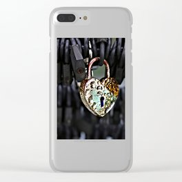 Where's the Key to Love? Clear iPhone Case