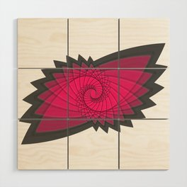 hypnotized - fluid geometrical eye shape Wood Wall Art