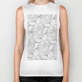 grid in black and petals Biker Tank